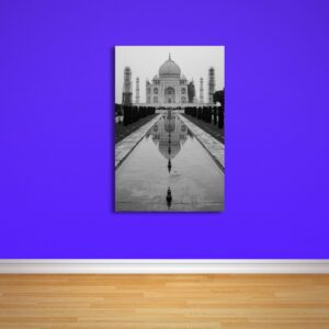 Premium Taj Mahal black white print for sale - buy online
