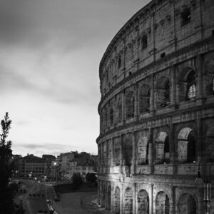 Roman Colosseum Black and White Print